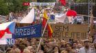 Protivládní demonstrace na Václavském náměstí v Praze