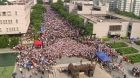 Masové demonstrace v Hongkongu