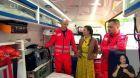 Záchranáři biohazard týmu se sanitkou - 1. část